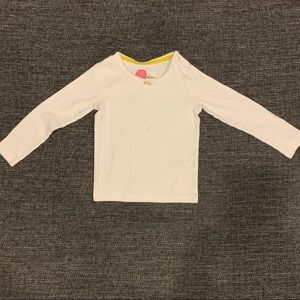 Mini Boden White Long Sleeve Top